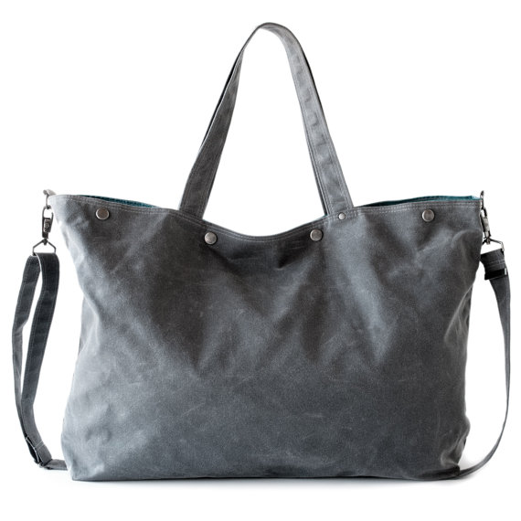 Gray Waxed Canvas Bag by Moop