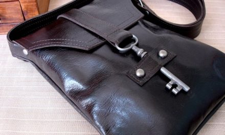 this messenger bag is keyed in on style