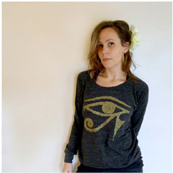 a protective eye of horus on your tee