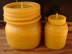 beautiful antique vessels and 100% beeswax candles