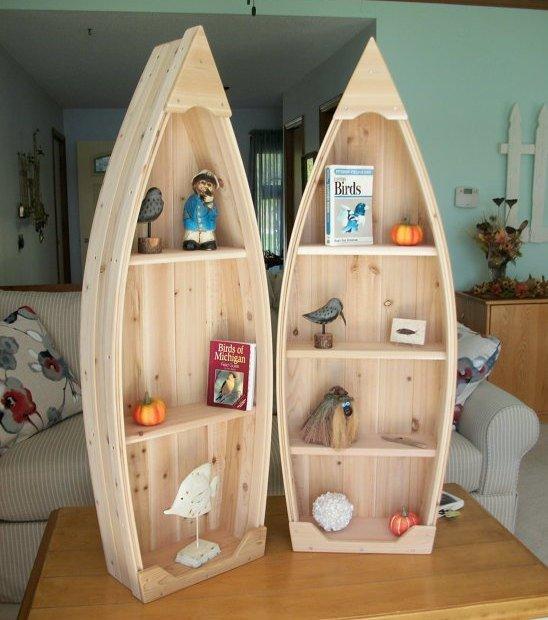 Poppa's Boats Cedar Bookcase