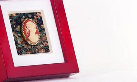 a charming little cameo art display