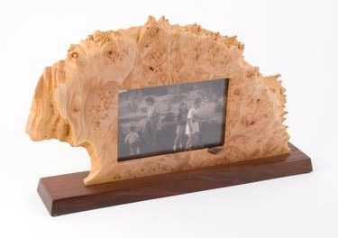 natural burl wood picture frames by neil austin