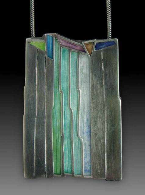 carly wright enamel and silver pendants inspired by nature