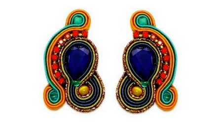 distinctive dori csengeri hand embroidered earrings