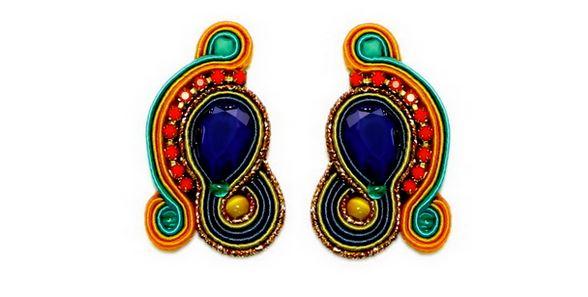 distinctive dori csengeri hand embroidered earrings