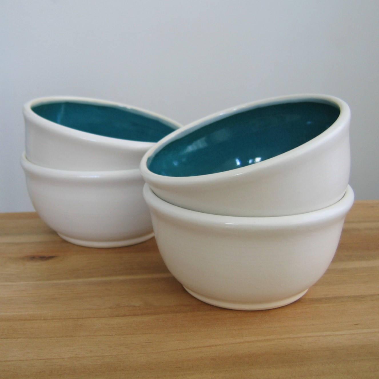 Stoneware bowls by Karin Lorenc