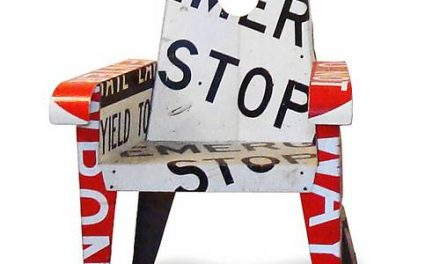 boris bally broadway street sign chairs