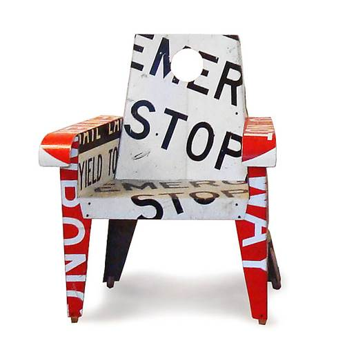 Emergency Stop Broadway Chair by Boris Bally