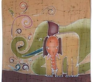 elephant art and art by elephants