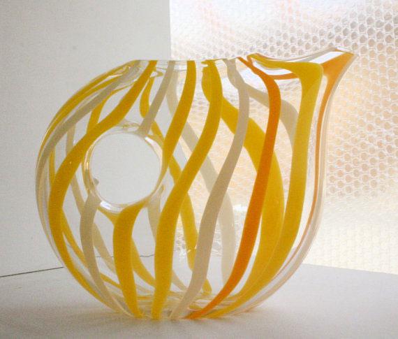a beautiful handblown glass pitcher to use however you like