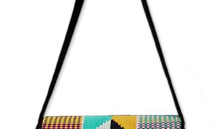 elegant kente cloth shoulder bag