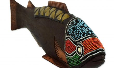 hand carved african fish sculpture