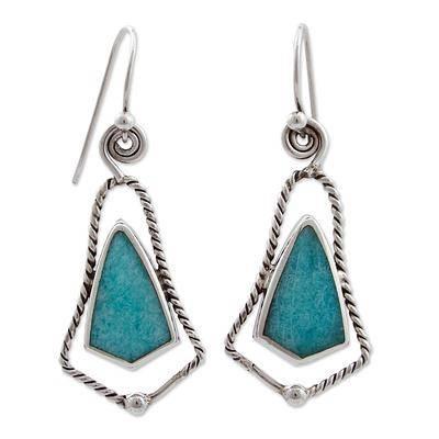 amazonite bell-shaped earrings by carlos gonzalez