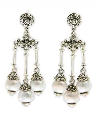 buddha inspired pearl chandelier earrings by zayd makarim