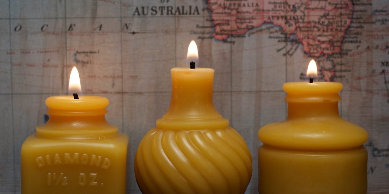 pretty handmade beeswax candles