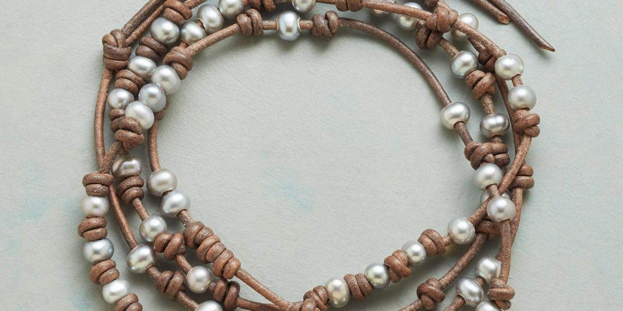 Bead and Fiber Wrap Bracelets by Chan Luu