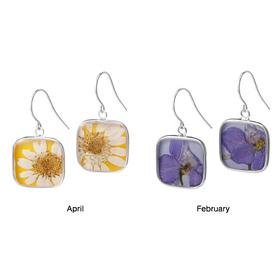 Birth Month Flower Earrings by Shari Dixon