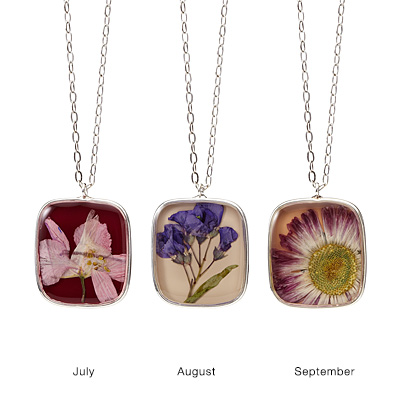 Birth Month Flower Necklace by Shari Dixon