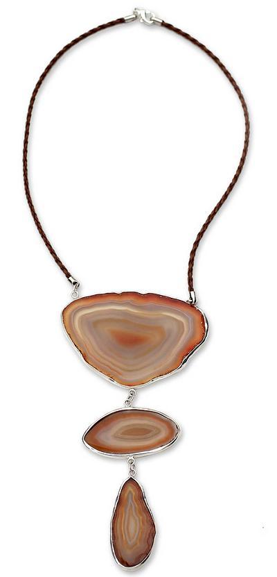 Unique Brown Agate Necklace