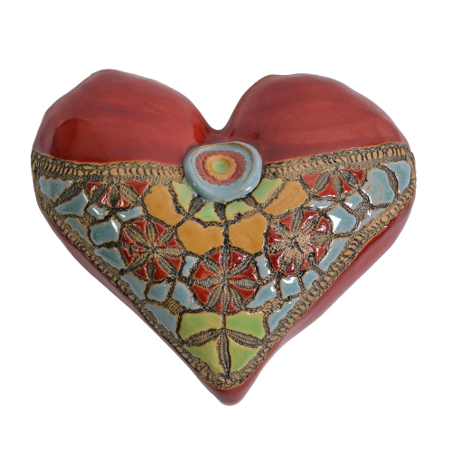 Ceramic Heart Sculpture