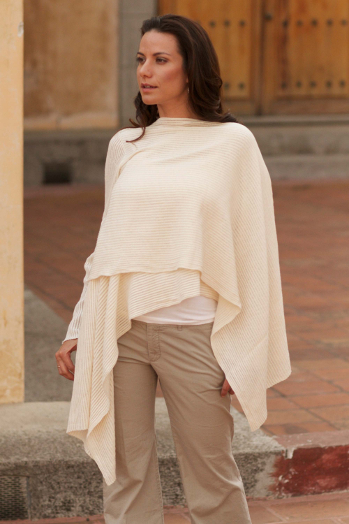 Cotton Wrap Sweater