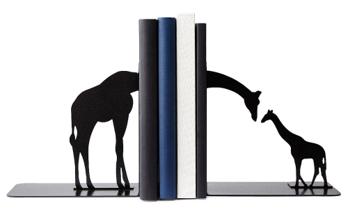Giraffe Family Bookends