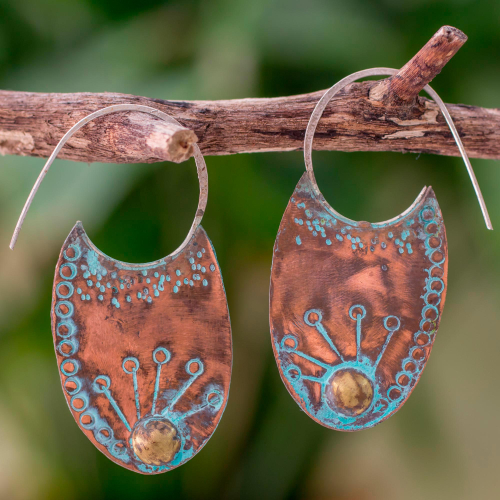 Fair Trade Copper Earrings from Guatemala
