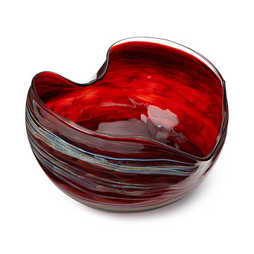 Hand Blown Glass Heart Bowl