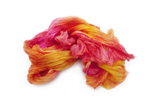 Hand-Dyed Silk Scarf – Summer Sunset