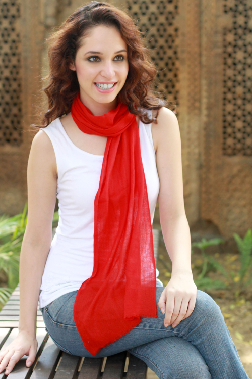 Handwoven Wool Scarf by Syed Hussein
