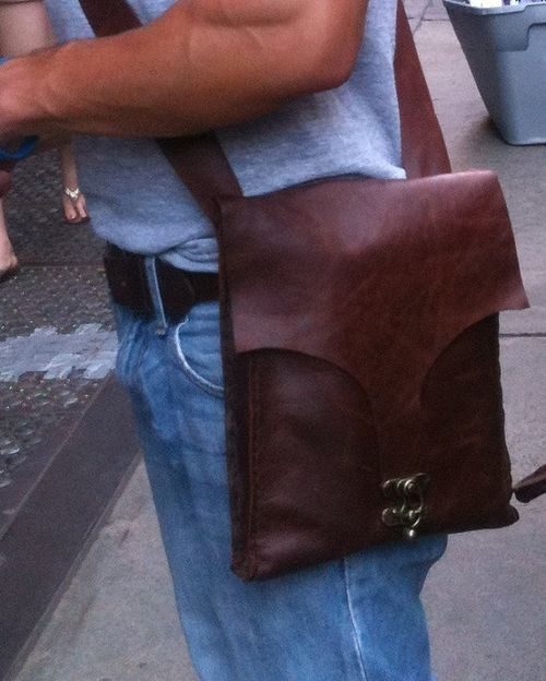 Leather iPad Bag by Nadira Bag