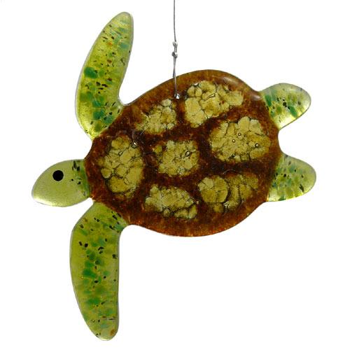Sea Turtle Fused Glass Suncatcher