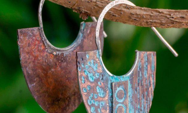 Fair Trade Copper Earrings from Guatemala
