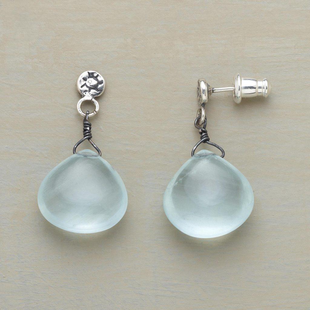 Aquamarine Drop Earrings by Jes MaHarry