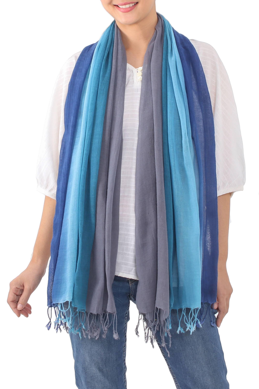 Shawl Size Cotton Scarf by Shivani Mehrotra and Yatin Narula