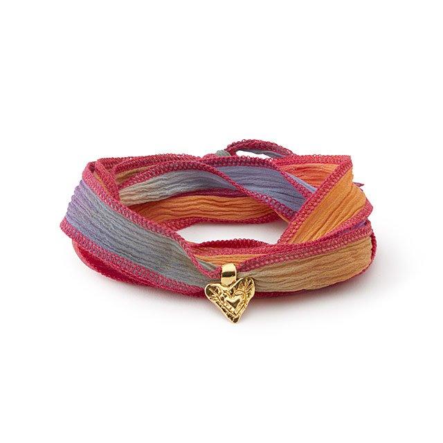 Hand-dyed Silk Wrap Bracelet