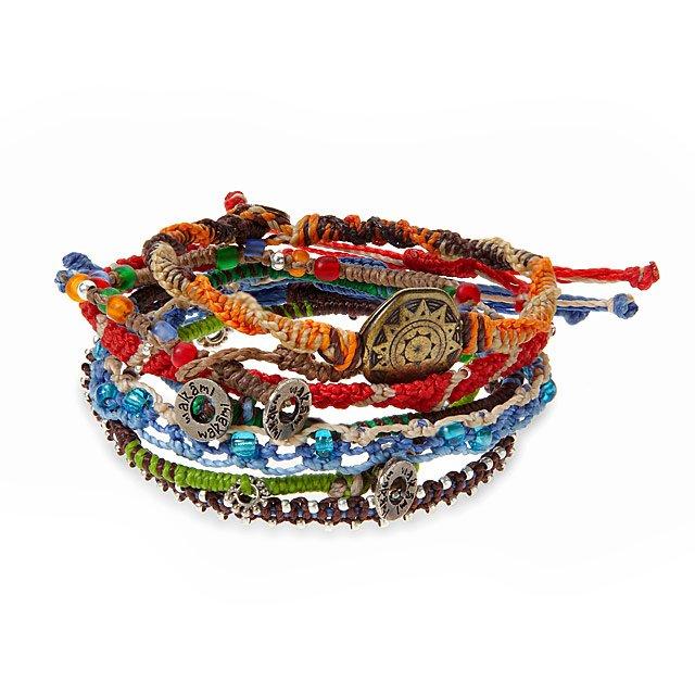 Set of Seven Wrap Bracelets by Lis Giron