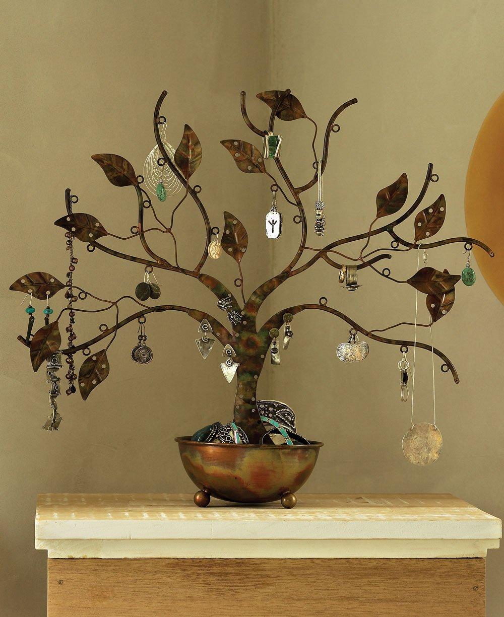 Decorative Metal Jewelry Tree