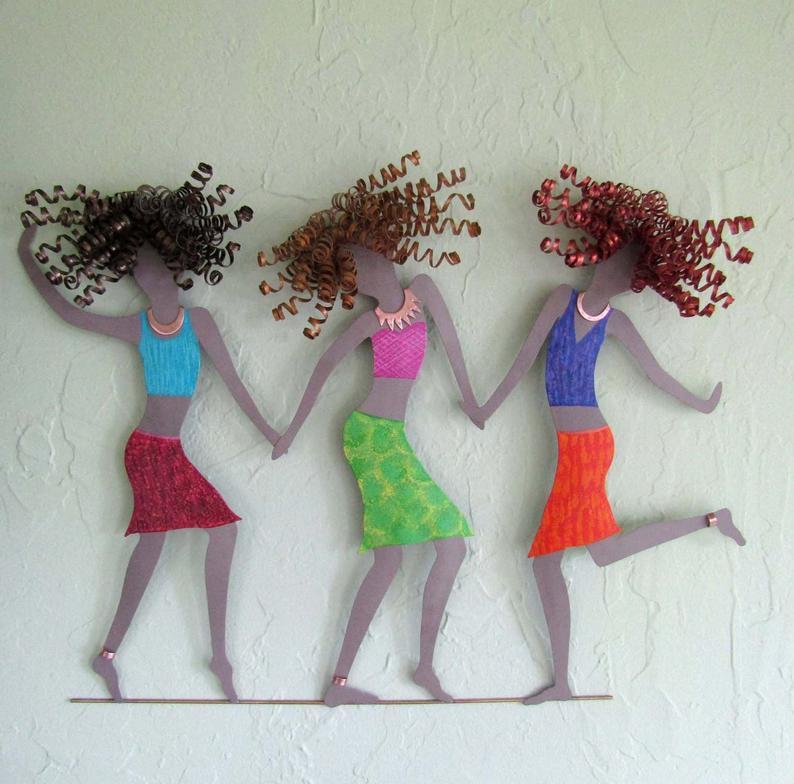 Three Ladies Dancing Wall Art by Frivolous Tendencies